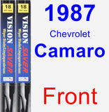 Front Wiper Blade Pack for 1987 Chevrolet Camaro - Vision Saver