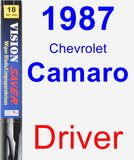 Driver Wiper Blade for 1987 Chevrolet Camaro - Vision Saver