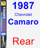 Rear Wiper Blade for 1987 Chevrolet Camaro - Vision Saver