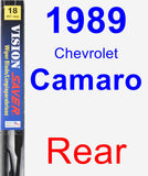 Rear Wiper Blade for 1989 Chevrolet Camaro - Vision Saver