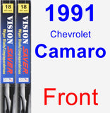 Front Wiper Blade Pack for 1991 Chevrolet Camaro - Vision Saver