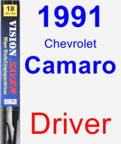 Driver Wiper Blade for 1991 Chevrolet Camaro - Vision Saver