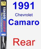 Rear Wiper Blade for 1991 Chevrolet Camaro - Vision Saver