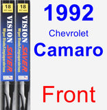 Front Wiper Blade Pack for 1992 Chevrolet Camaro - Vision Saver