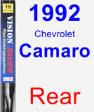 Rear Wiper Blade for 1992 Chevrolet Camaro - Vision Saver