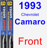 Front Wiper Blade Pack for 1993 Chevrolet Camaro - Vision Saver
