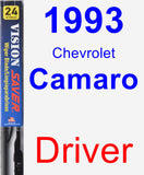 Driver Wiper Blade for 1993 Chevrolet Camaro - Vision Saver