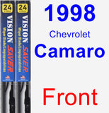 Front Wiper Blade Pack for 1998 Chevrolet Camaro - Vision Saver