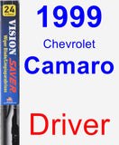 Driver Wiper Blade for 1999 Chevrolet Camaro - Vision Saver