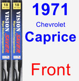 Front Wiper Blade Pack for 1971 Chevrolet Caprice - Vision Saver