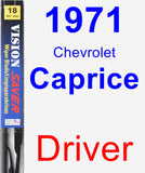 Driver Wiper Blade for 1971 Chevrolet Caprice - Vision Saver