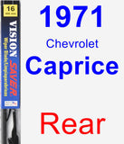 Rear Wiper Blade for 1971 Chevrolet Caprice - Vision Saver
