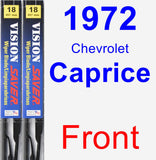 Front Wiper Blade Pack for 1972 Chevrolet Caprice - Vision Saver