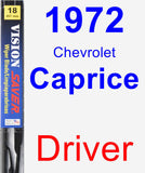 Driver Wiper Blade for 1972 Chevrolet Caprice - Vision Saver