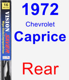 Rear Wiper Blade for 1972 Chevrolet Caprice - Vision Saver