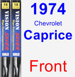 Front Wiper Blade Pack for 1974 Chevrolet Caprice - Vision Saver