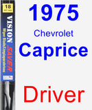 Driver Wiper Blade for 1975 Chevrolet Caprice - Vision Saver