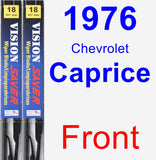 Front Wiper Blade Pack for 1976 Chevrolet Caprice - Vision Saver