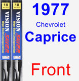 Front Wiper Blade Pack for 1977 Chevrolet Caprice - Vision Saver