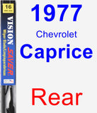 Rear Wiper Blade for 1977 Chevrolet Caprice - Vision Saver
