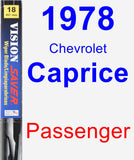 Passenger Wiper Blade for 1978 Chevrolet Caprice - Vision Saver