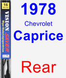 Rear Wiper Blade for 1978 Chevrolet Caprice - Vision Saver