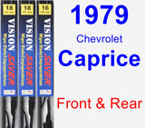 Front & Rear Wiper Blade Pack for 1979 Chevrolet Caprice - Vision Saver
