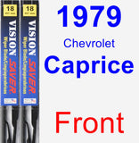 Front Wiper Blade Pack for 1979 Chevrolet Caprice - Vision Saver