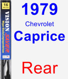 Rear Wiper Blade for 1979 Chevrolet Caprice - Vision Saver