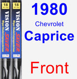 Front Wiper Blade Pack for 1980 Chevrolet Caprice - Vision Saver