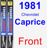 Front Wiper Blade Pack for 1981 Chevrolet Caprice - Vision Saver