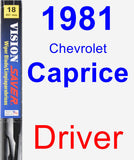 Driver Wiper Blade for 1981 Chevrolet Caprice - Vision Saver
