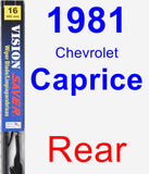 Rear Wiper Blade for 1981 Chevrolet Caprice - Vision Saver