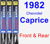 Front & Rear Wiper Blade Pack for 1982 Chevrolet Caprice - Vision Saver