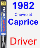 Driver Wiper Blade for 1982 Chevrolet Caprice - Vision Saver