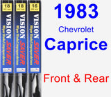 Front & Rear Wiper Blade Pack for 1983 Chevrolet Caprice - Vision Saver