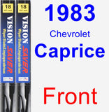 Front Wiper Blade Pack for 1983 Chevrolet Caprice - Vision Saver