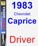 Driver Wiper Blade for 1983 Chevrolet Caprice - Vision Saver
