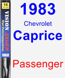 Passenger Wiper Blade for 1983 Chevrolet Caprice - Vision Saver