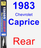 Rear Wiper Blade for 1983 Chevrolet Caprice - Vision Saver
