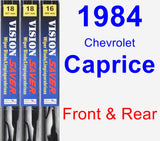 Front & Rear Wiper Blade Pack for 1984 Chevrolet Caprice - Vision Saver