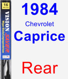 Rear Wiper Blade for 1984 Chevrolet Caprice - Vision Saver