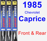 Front & Rear Wiper Blade Pack for 1985 Chevrolet Caprice - Vision Saver