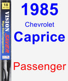 Passenger Wiper Blade for 1985 Chevrolet Caprice - Vision Saver