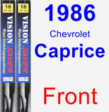 Front Wiper Blade Pack for 1986 Chevrolet Caprice - Vision Saver