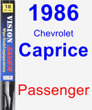 Passenger Wiper Blade for 1986 Chevrolet Caprice - Vision Saver