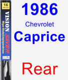 Rear Wiper Blade for 1986 Chevrolet Caprice - Vision Saver