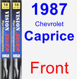 Front Wiper Blade Pack for 1987 Chevrolet Caprice - Vision Saver