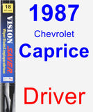 Driver Wiper Blade for 1987 Chevrolet Caprice - Vision Saver