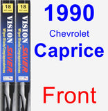 Front Wiper Blade Pack for 1990 Chevrolet Caprice - Vision Saver